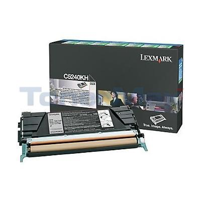 LEXMARK C524 C534 TONER CART BLACK RP 8K